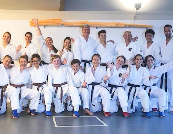 Freudiges Wiedersehen unter Karatefreunden