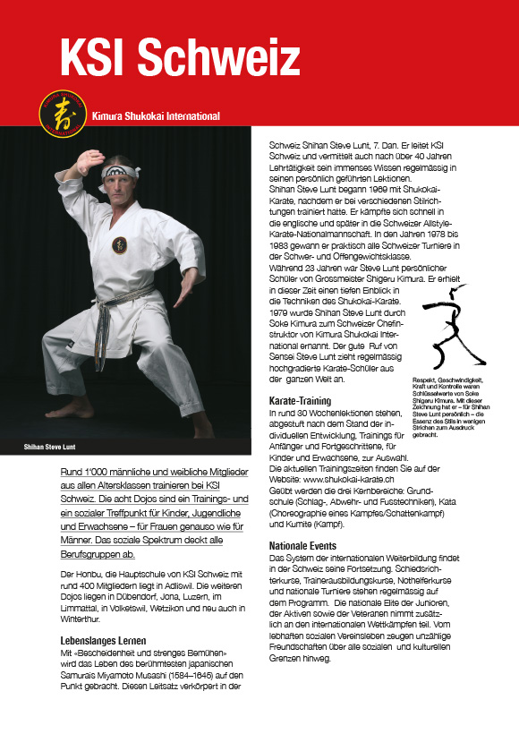 Karatemagazin Kimura Shukokai Schweiz