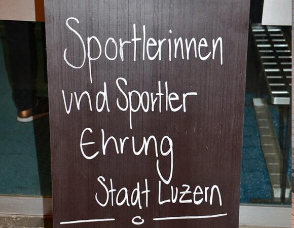 Sportlerehrung Stadt Luzern 11/2018